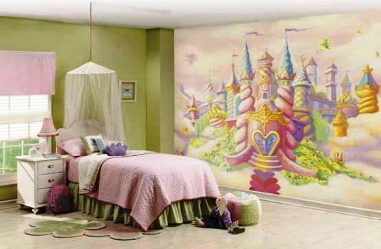 модные обои для детской комнаты 2015 сказочный замок