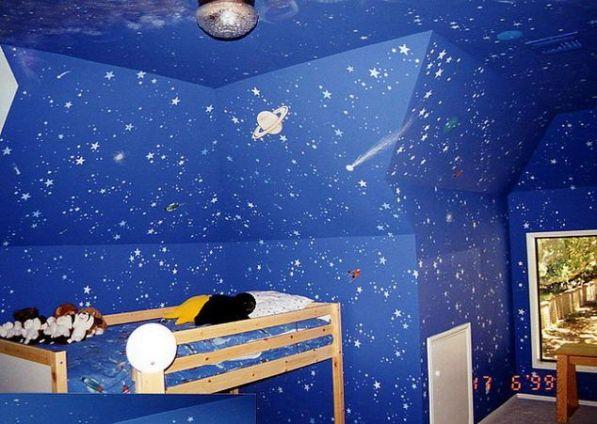 модные обои для детской комнаты 2015 звезды небо