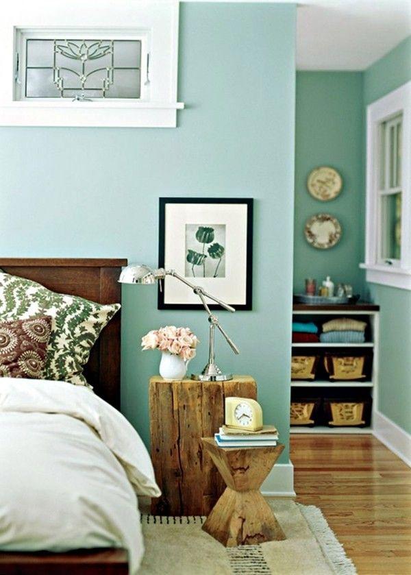 мятный цвет в дизайне интерьера спальни