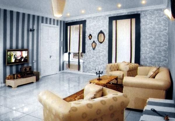 Нарядная и уютная гостиная