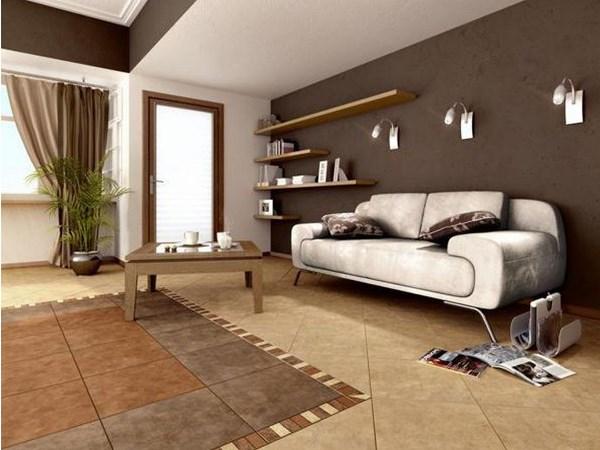Насыщенный шоколадный цвет в интерьере гостиной