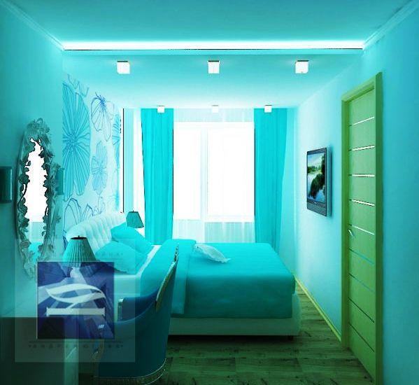 Фото: комбинация с зеленым сделает интерьер комнаты более разнообразным