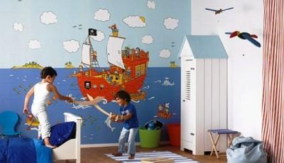 обои для детской мальчика пираты