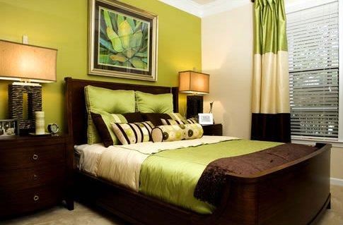 Пример с интерьером спальни
