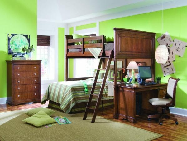 Фото: сочетание с мебелью коричневого цвета будет смотреться гармонично и привлекательно