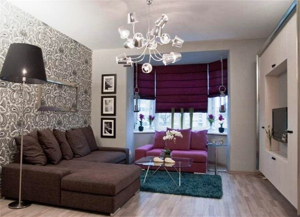 Фото: при необходимости, в дизайне интерьера можно применить такой прием, как комбинирование