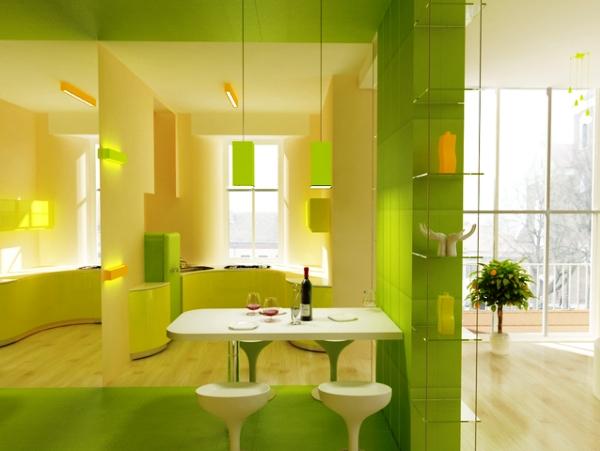 Искусное применение элементов декора, мебели и штор только подчеркнут все достоинства этого тона