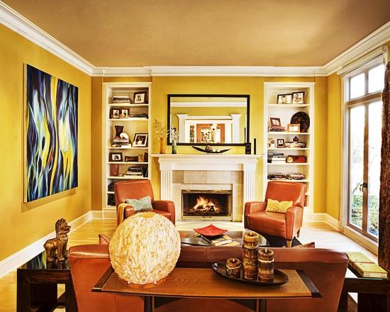 Фото: мебель коричневых тонов будет смотреться достаточно гармонично