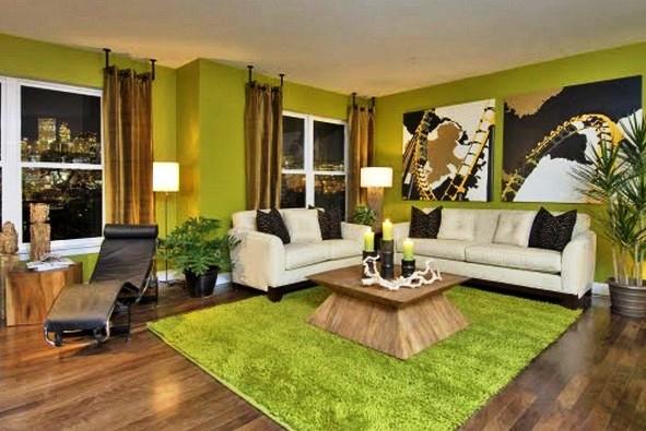 Фото: этот тон уместен и для использования в гостиных комнатах