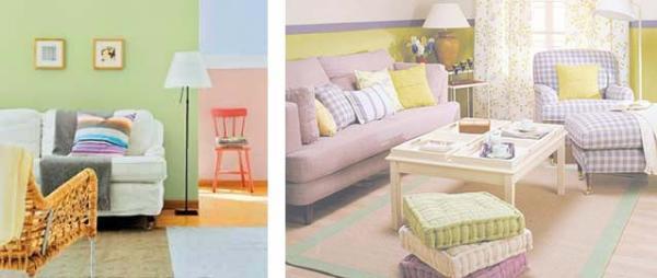 Нежные и неброские краски делают интерьер спокойным и умиротворенным
