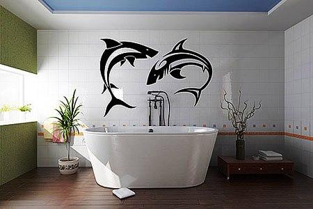 Рисунок своими руками в ванной