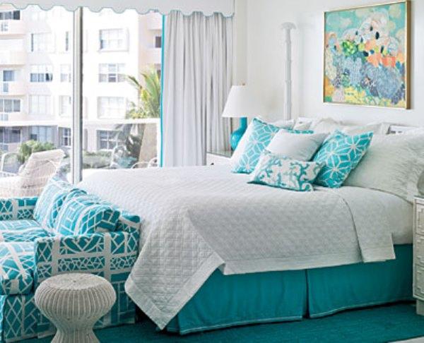 Спальня с эффектом чистоты и прохлады
