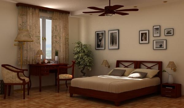 В спальне собраны разнообразные оттенки кофе