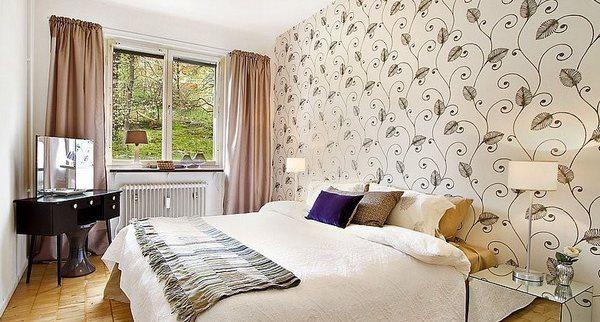 Спальня с растительными мотивами