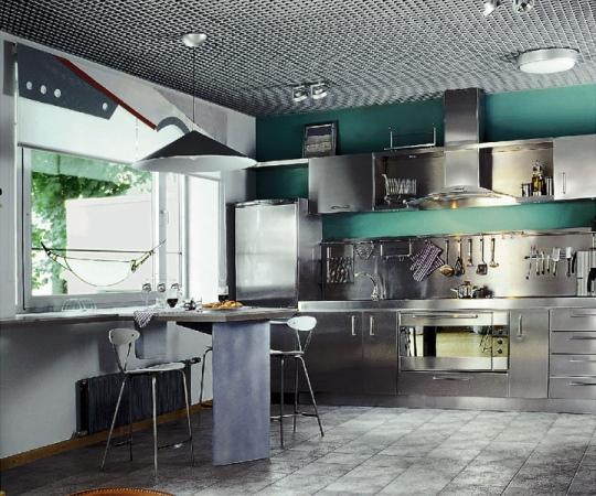 техно стиль в кухне