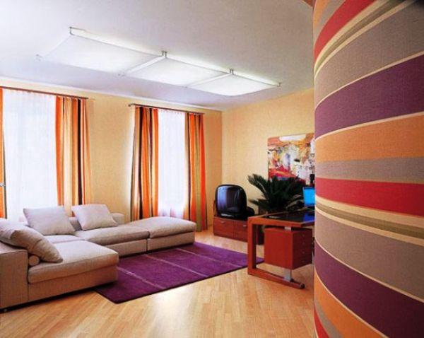 Фото: яркие цвета не только сделают дизайн комнаты более приятным, но и помогут визуально осветлить пространство