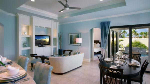 Гостиная синяя