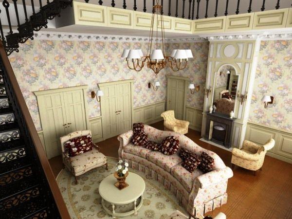 Фото: стиль прованс в интерьере зала