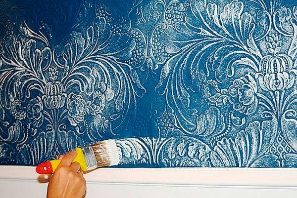 Покраска обоев Lincrusta сделает их еще более привлекательными