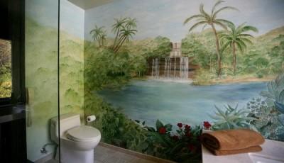 Фотообои в туалете экзотика
