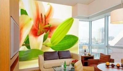 фотообои для гостиной цветок