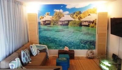 фотообои для интерьера гостиной море