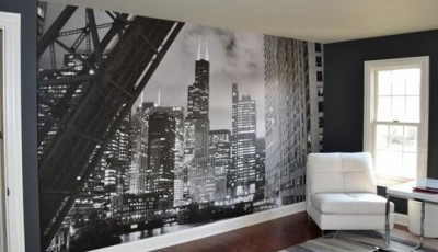 фотообои город в гостиную
