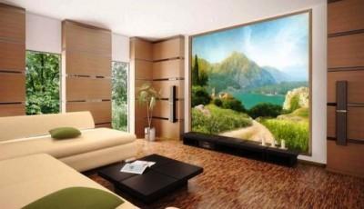 фотообои гостиной горный пейзаж