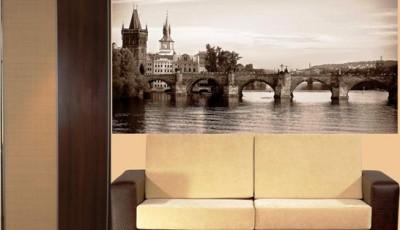 фотообои гостиной мост