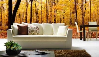 фотообои гостиной осенний лес