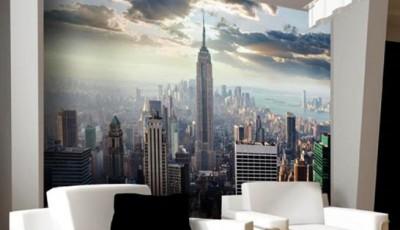 фотообои гостиную небоскребы