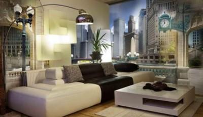 фотообои на стены для гостиной