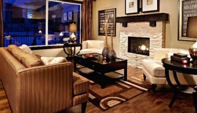 коричневая мебель какие обои