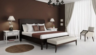 коричневая мебель какие обои лучше