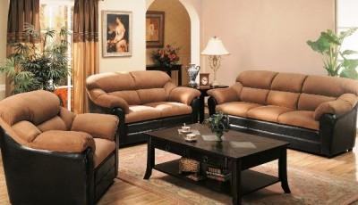 коричневая мебель в гостиной какие обои подобрать