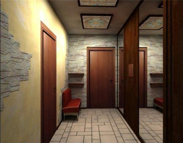 обои в коридор фото узкий