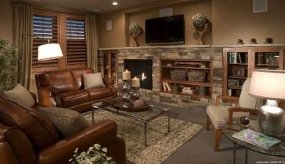 обои какого цвета лучше выбрать под коричневую мебель
