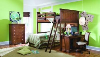 обои под коричневую мебель в детскую комнату