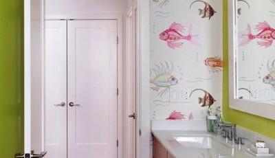оюои для ванной с рисунками рыбок