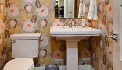 водостойкие обои для туалета