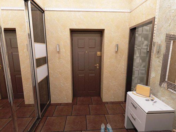 Шкаф-купе в коридоре и гардеробная Идеи для ремонта 24