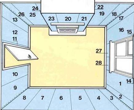 Как правильно клеить бумажные обои схема