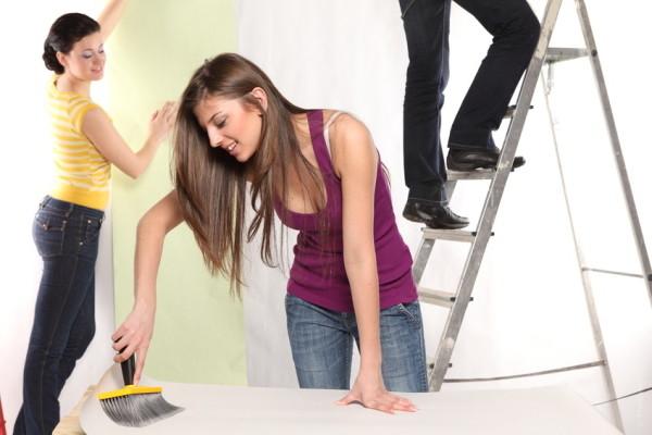 Как клеить обои под покраску процесс
