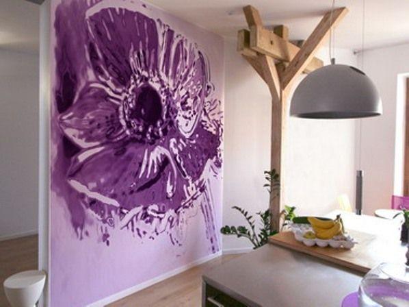 Рисуем цветы на стене своими руками
