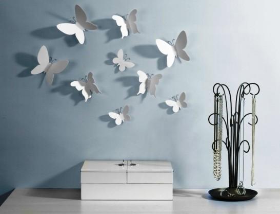 Как расположить бабочек на стене по фен шуй