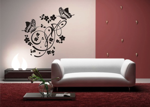 Роспись стен своими руками трафареты фото 18
