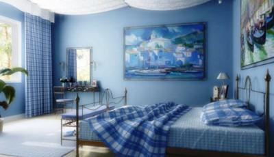 Обои в морском стиле в интерьере спальни