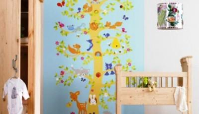 детские обои с деревьями