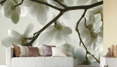 фотообои с цветами деревьев