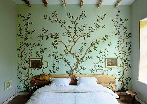 обои с деревьями на стену